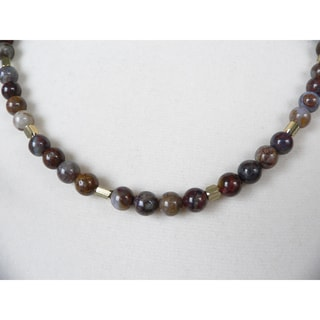 'Rickon' Men's Eagle's Eye Bead Necklace