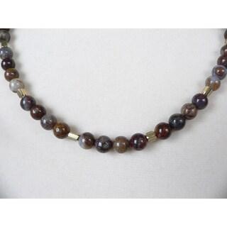 'Rickon' Men's Eagle's Eye Bead Necklace