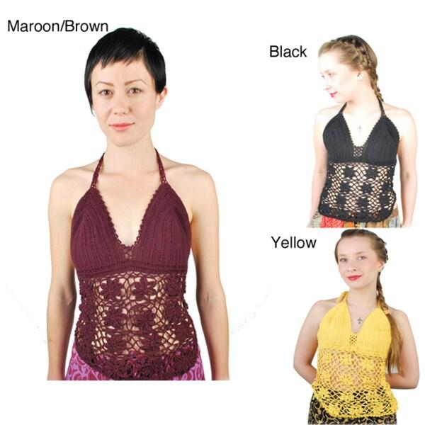 Women's Hand-crocheted Halter Top (Indonesia)