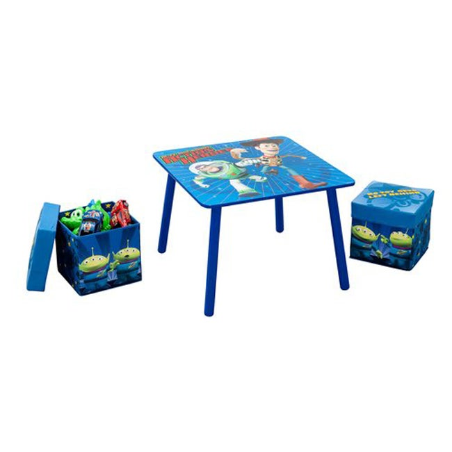 Disney Toy Story Table and Fabric Storage Ottoman Set
