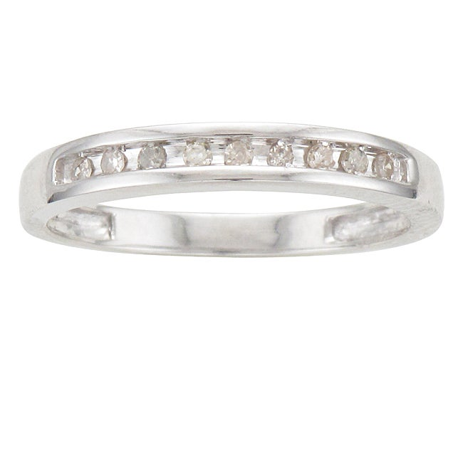 Unending Love Sterling Silver 1/10ct TDW Diamond Ring (I-J, I2-I3)