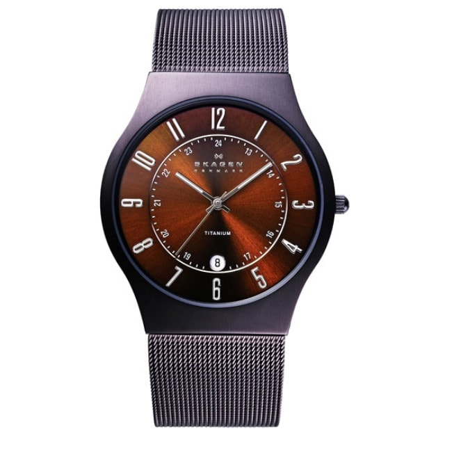 Skagen Men's Titanium Brown Espresso Dial Watch