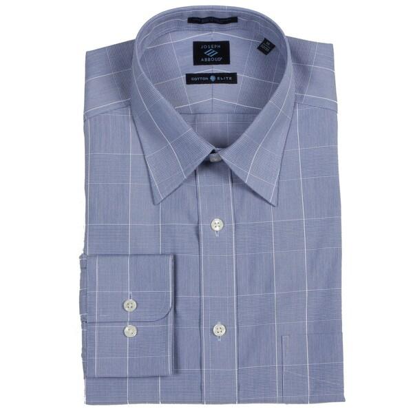 Joseph Abboud Men's Blue/ White Dress Shirt