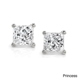 14k Gold 1ct TDW Certified Diamond Solitaire Earrings (I-J, I2-I3)