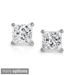 14k White Gold 1ct TDW IGL-certified Diamond Stud Earrings (I-J, I2-I3)