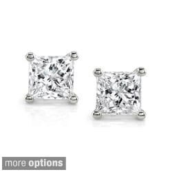 14k White Gold 1ct TDW Certified Diamond Stud Earrings