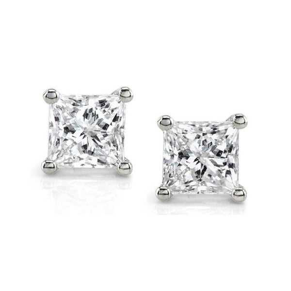 14k White Gold 1ct TDW IGL-Certified Diamond Stud Earrings