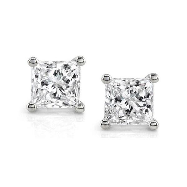Montebello 14k White Gold 1ct TDW IGL-Certified Diamond Stud Earrings