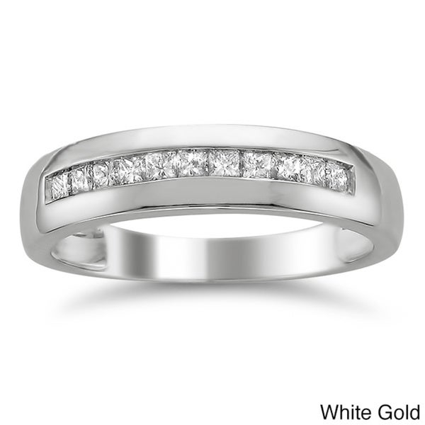 14k Gold Men's 1/2ct TDW Diamond Wedding Band (H-I, SI2-I1)