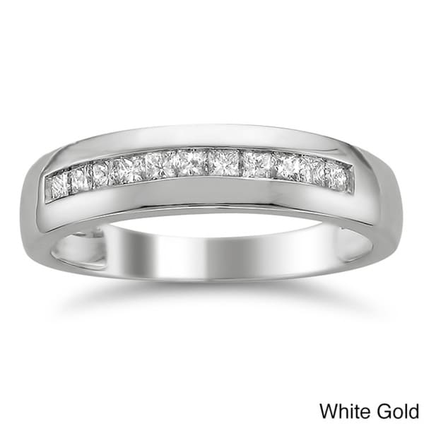 Montebello 14k Gold Men's 1/2ct TDW Diamond Wedding Band (H-I, SI2-I1)
