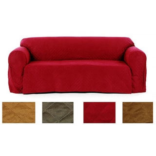 Quilted Loveseat Micro Suede Slipcover
