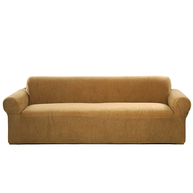 Luxury Stretch Cinnamon Sofa Slipcover Overstock