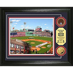 Highland Mint Fenway Park Gold and Infield Dirt Coin Photo Mint