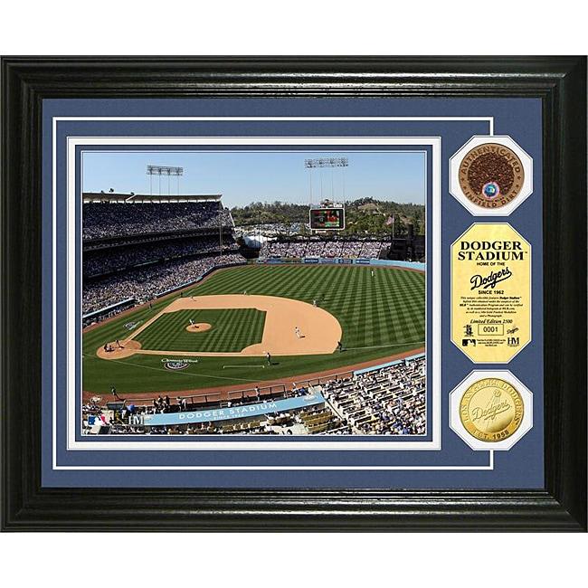 Highland Mint Dodger Stadium Gold and Infield Dirt Coin Photo Mint