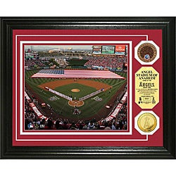 Angel Stadium Gold and Infield Dirt Coin Photo Mint