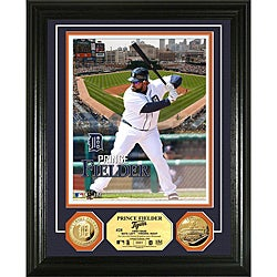 Prince Fielder Gold Coin 'Showcase' Photo Mint