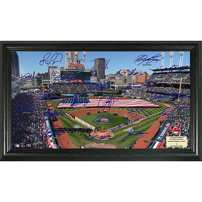 Cleveland Indians Signature Field Frame