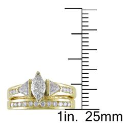 Miadora 14k Yellow Gold 1ct TDW Diamond Bridal Ring Set (G-H, I1-I2)