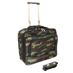 World Traveler Camouflage Rolling 17-inch Laptop Case