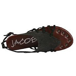 Jacobies by Beston Women's 'Good-06' Black Sandals