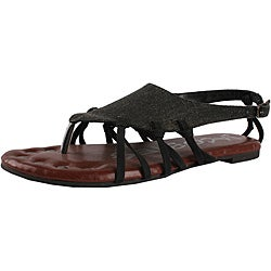 Jacobies by Beston Women's 'Good-06' Black Sandals