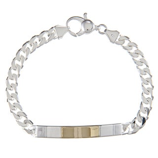 Sterling Silver and 18k Gold 5-mm ID Link Bracelet