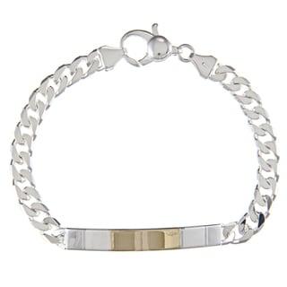 Sterling Silver and 18k Gold 5-mm ID Link Bracelet