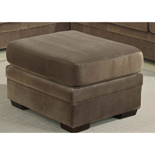 jennifer chocolate brown ottoman 14234291 overstock