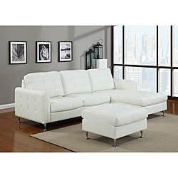 Amanda White Bonded Leather Sectional