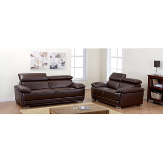Kyle Brown Bonded Sofa and Loveseat Set