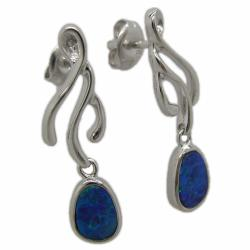 Pearlz Ocean Sterling Silver Boulder Opal Dangle Earrings