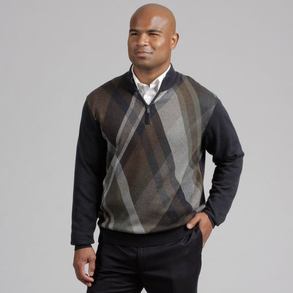 Alex Cannon Men's Quarter Zip Sweater