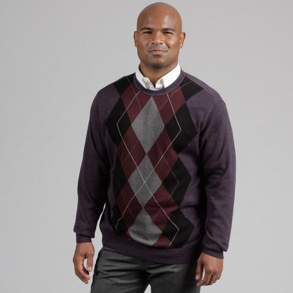 Alex Cannon Men's Argyle Crew Neck Sweater FINAL SALE