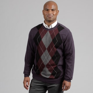 Alex Cannon Men's Argyle Crew Neck Sweater FINAL SALE