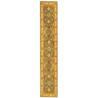 Safavieh Handmade Legacy Light Blue Wool Rug (2'3 x 20')