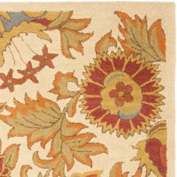 Safavieh Handmade Blossom Flowers Ivory Wool Rug (8'9 x 12')