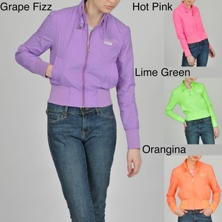 Members Only Women's Neon Classic Bomber Jacket