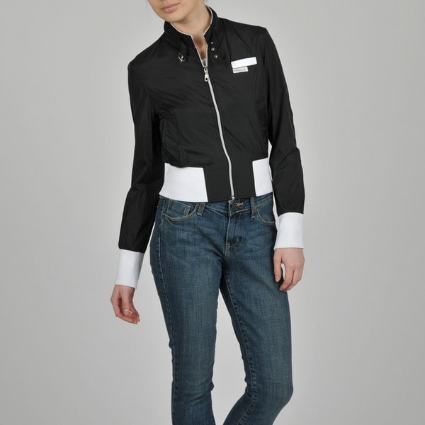 Members Only Women's Nylon Color-Block Bomber Jacket
