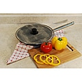 Stainless Steel 2-piece 13-inch Round Splatter Screen with Knob Set