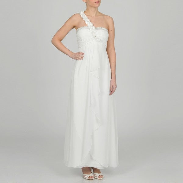 Decode 1.8 Women's Contemporary Ivory Asymmetrical Dress