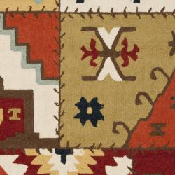 Hand-hooked Southwest Wool Rug (5'3 x 8'3)