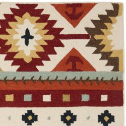 Hand-hooked Southwest Wool Rug (7'6 x 9'9)