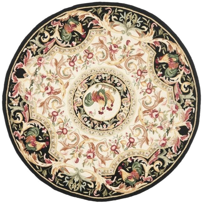 Safavieh Hand-hooked Rooster Ivory/ Black Wool Rug (3