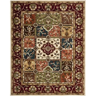 Handmade Heritage Panels Multi/ Red Wool Rug (6' x 9')