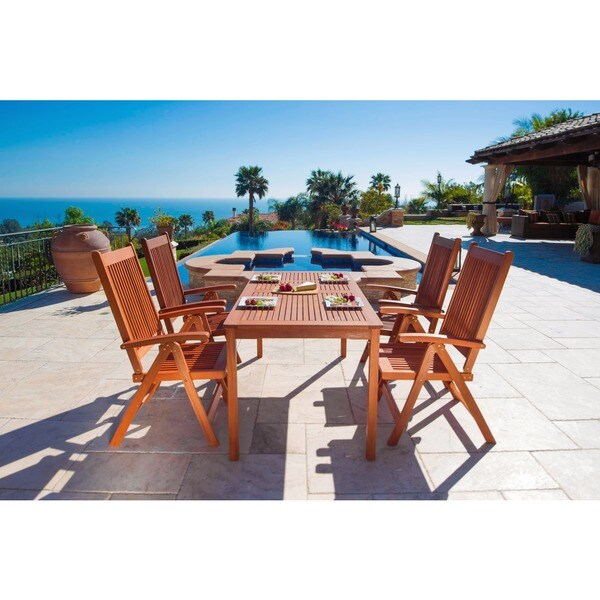Balthazar Table and Reclining Chairs 5-piece Dining Set