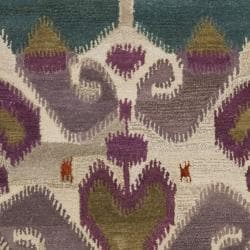 Safavieh Handmade Chatham Reflections Ivory New Zealand Wool Rug (4' x 6')