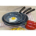 Professional Carbon Steel 3-piece Frypan Set with Ceramic Nonstick Coating