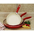 Professional Aluminum 3-piece Ceramic Nonstick Cookware Set