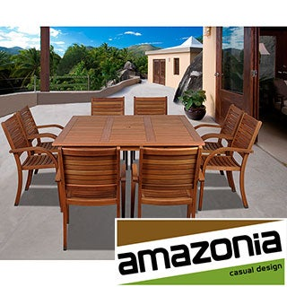 Riviera 9-piece Square Dining Set
