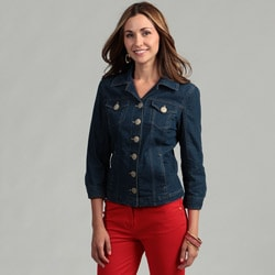 Live A Little Women's 3/4-sleeve Denim Jacket